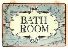 french decor | Vintage French Bathroom signage,   $ 20 from Bed Bath n Table   #French #France #Parisian #Paris #home #decor
