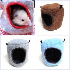 Hamster Hammock Bed Tree House Rat Ferrets Bird Squirrel Pet Xmas Gift Warm Cage | eBay - $6.99