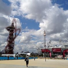 Blue skies over Olympic Park with less than a week until the 2012 London Olympic Games opening ceremony. #NBCOlympics