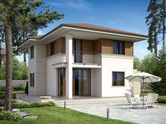 Projekt domu dwukondygnacyjnego Cyprys 2 (153,1 m2). Pełna prezentacja projektu znajduje się na stronie: www.domywstylu.pl.... #cyprys 2 #projekty #projekt #gotowe #typowe #domy #domywstylu #mtmstyl #home #houses #architektura #interiors #insides #wnętrza #aranżacje