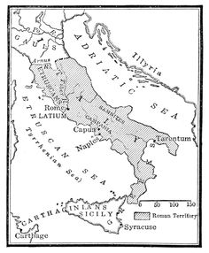 Map of Roman Power after the War with Pyrrhus