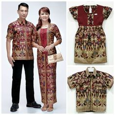 17 Baju Batik Couple Keluarga Untuk Pesta Modern 2018 Model Baju Terbaru  2018 49facd9863