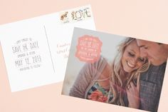 Invitación Save the Date con una foto de los novios
