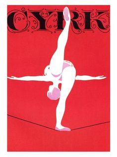 Vintage Polish Circus Poster