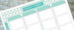 9 Charts to Track You Children's Chores (Including a Few DIY)