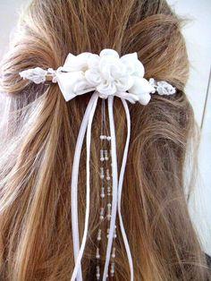 Weiteres - **Haarschmuck Kommunion-Haarspange** - ein Designerstück von Gestruepp bei DaWanda