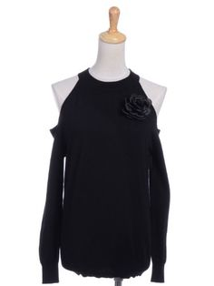 http://monumentallorenzogarza.com/annakaci-sm-fit-cut-out-shoulders-floral-rose-corsage-applique-sweater-p-12190.html