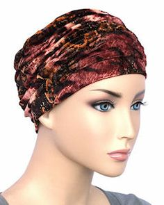 The Glamour Cap 704 Elegant Chemo Turban for by ChemoFashionScarf Chemo Hair Loss, Old Hollywood Glamour, Turban, Classic Style, Special Occasion, Paisley, Burgundy, Cap, Elegant