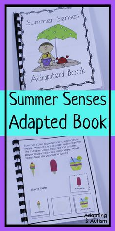 This summer adapted book is a great addition to your five senses activities.  Includes visual supports and differentiated worksheets perfect for special education classrooms.