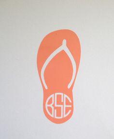 Beach Bum Flip Flop Car Decal Vinyl Sticker Custom Beach Southern - Custom vinyl decals   removal options