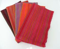 Ravelry: JeanneM's Shades of India towels. Bumberet.