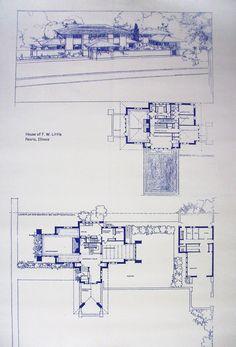 Frank Lloyd Wright Little House Blueprint. $18.99, via Etsy.