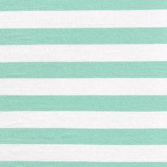 "1"" Green Mint Light/Off White Stripes Rayon Jersey Stretch Knit Fabric, Causal Jersey Knit Fabric, Knitting Fabric - 1 Yard Style 433 on Etsy, $8.90"