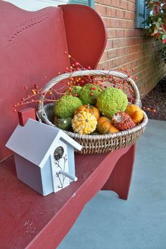 I'm so glad I finally found some hedge apples to add to my fall decor. Photo by Carol Jacobs Norwood.