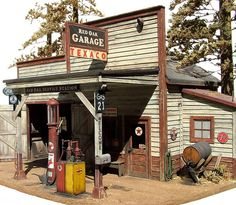 2078e01bf7f007 1 48th scale country gas station Vintage Gas Pumps