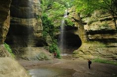 Starved Rock State Park - Utica Illinois. Waterfalls, canyons, camping!