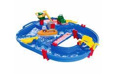 s Starter Set is the perfect way to start creating your own Aquaplay world! It contains the popular harbour where the crane can load the container on either the amphibian truck or the container boat.