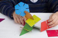 Construcciones geométricas para imprimir - Manualidades Infantiles