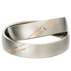 Rauschmayer Trauringe Weiß- und Rotgold 5mm 50431 http://www.thejewellershop.com/ #rauschmayer #eheringe #trauringe #rotgold #weißgold #gold #wedding