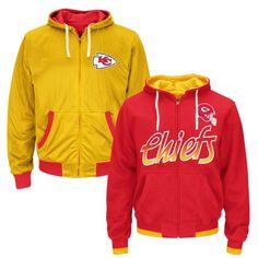 NFL Kansas City Chiefs Game Time Reversible Full Zip Hoodie - Red