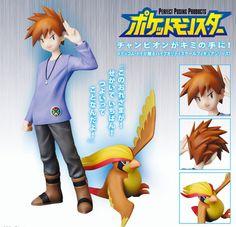Crunchyroll - Gary Oak and Pidgeot Perfect Posing Products Figure - Pokemon Green