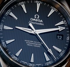 Hands-on look at some dressy anti-magnetic watches. These are the Omega Seamaster Aqua Terra Master Co-Axial timepieces for 2014.