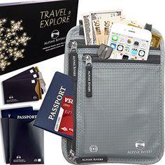 Neck Wallet Travel Pouch & Passport Holder RFID Blocking with 5 Bonus Sleeves - $14.95  #travelaccessories #travelaccessory #travel