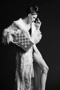 """Chess novella"" (Editorial on Nu-Mode´ Magazine (New York) October 14). Photo - Dmitry Nevlad, model - Ella Zadavysvichka (Linea 12), style - Sonya Matveeva, make-up - Natalya Goncharenko, hair - Maryna Trofimets, coat - LARA QUINT. #editorial #fashionphoto #fashionphotography #model #coat #modern #trend #collection #outfit #look #boho #bohemian"