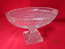 Vintage Cut Crystal Oval Bowl