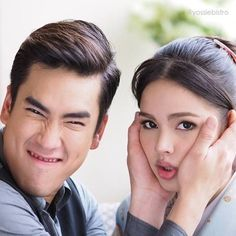 Couple Photoshoot Poses, Thai Drama, Sweet Couple, Strike A Pose, Celebrity Couples, Couple Goals, Cute Couples, Handsome, Super Cute
