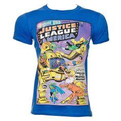 DC Comics The Justice League Of America T Shirt (Blue)