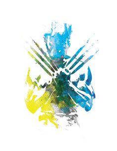 Wolverine X-Men Marvel Comic Watercolor Print by TheGnakedGnome