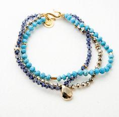 Mathilde Danglade bracelets turquoise perles bijou de plage été http://www.vogue.fr/joaillerie/shopping/diaporama/bijoux-de-plage/21469/carrousel#mathilde-danglade-bracelets