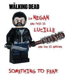 The Walking Dead NEGAN & LUCILLE minifigure action figure zombie tv ver3 lego