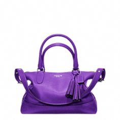"LEGACY LEATHER MOLLY SATCHEL - this one is ""only $348""  :)  Love that purple!!!"