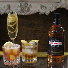 3 Simple Cocktails to Acquaint You with Drambuie There's no better time to learn about Drambuie than than the fall. For those of you who are unfamiliar with it, Drambuie is a blend of aged Scotch, he. Drambuie Cocktails, Campari Cocktails, Cocktail Drinks, Cocktail Recipes, Wine Recipes, Liqueurs, Prosecco, Whiskey Drinks, Coffee Cocktails