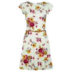 Primark belted floral skater dress