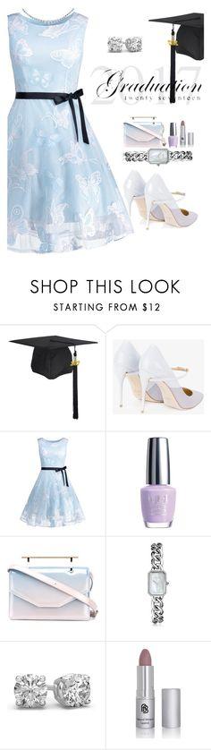 """graduation day"" by katymill ❤ liked on Polyvore featuring Jennifer Chamandi, OPI, M2Malletier, Chanel, Graduation, dress, day and jewelery"