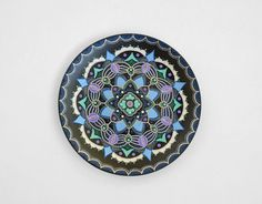 Mandala plate  Nautical plate  Decorative plate  Wall by LekaArt