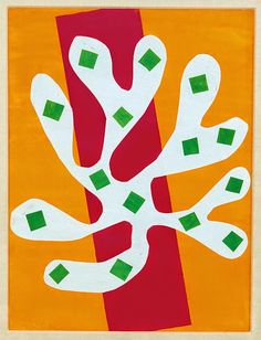 Henri Matisse, White Algae on Orange & Red Background, 1947.
