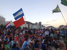 Praia de Copacabana durante a final da Copa do Mundo 2014