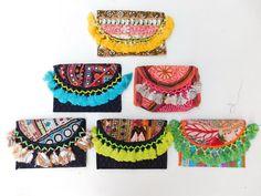 Vintage Indian Embroidery Bags Banjara Clutch Hobo Purse Wholesale Lot Set of 6 #Handmade #ClutchBag