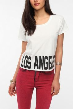 Workshop Bold Text Destination Crop Tee  #UrbanOutfitters