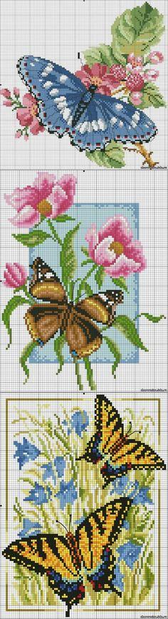 Схемы вышивки. Бабочки