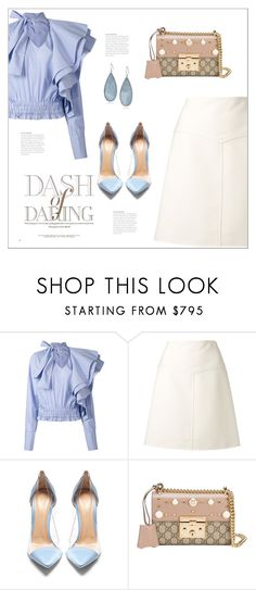 """""""Без названия #7992"""" by bliznec ❤ liked on Polyvore featuring Off-White, Courrèges, Gianvito Rossi, Gucci and Kenneth Cole"""