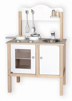 Wooden Noble Kids Kitchen with Accessories