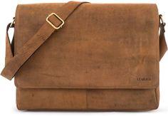 #LEABAGS #Oxford #Umhängetasche aus #echtem #Büffel-Leder #im #Vintage #Look