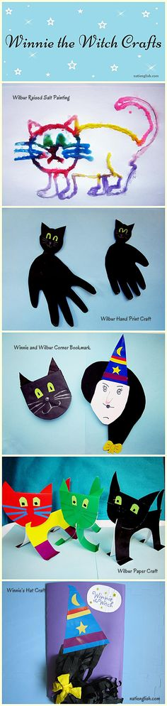 Winnie the Witch Crafts and Lapbook with free printables, ESL stories, ESL Kids