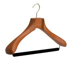 634bdc1f9169f1 Butler Luxury Tailor Made® Wood Suit Hanger in Deep Butterscotch with  velvet trouser bar Meilleurs