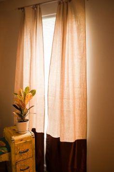 Drop Cloth Curtains!
